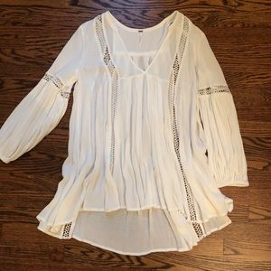 Free People White Tunic Dress